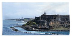 Beach Towel featuring the photograph Castillo San Felipe Del Morro by Lois Lepisto