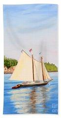 Castine Harbor And Dice Head Light Beach Towel