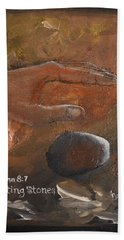 Casting Stones Beach Towel by Gary Smith