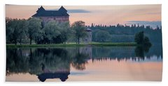 Castle After The Sunset Beach Towel