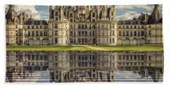 Beach Towel featuring the photograph Castle Chambord by Heiko Koehrer-Wagner