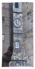Castle Clock Through Walls Beach Sheet by Margaret Brooks