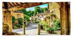 Castle Combe Village, Uk Beach Towel by Chris Smith