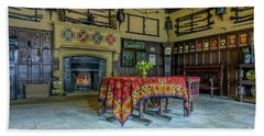 Beach Towel featuring the photograph Castle Dining Room by Ian Mitchell
