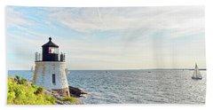 Castle Hill Lighthouse In Summer Horizontal Beach Sheet