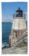 Castle Hill Lighthouse Newport Rhode Island Beach Sheet by Brian MacLean