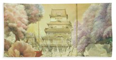 Castle Himeji - Sakura Beach Towel