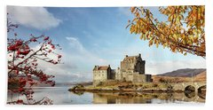 Castle In Autumn Beach Towel