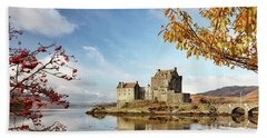 Castle In Autumn Beach Sheet