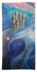 Castle In The Stars Beach Towel