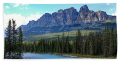 Castle Mountain, Ab  Beach Sheet by Heather Vopni