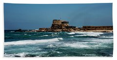 Beach Towel featuring the photograph Castle Of Herod The Great by Mae Wertz