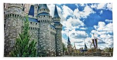 Castle Perspective Beach Towel