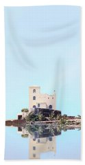 Castle Reflection Beach Towel