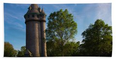 Castle Turret On The Green Beach Towel