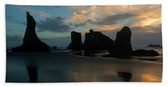 Beach Towel featuring the photograph Castles In The Sand by Mike Dawson