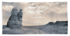 Beach Towel featuring the photograph Castles Of Wonder by Thomas Bomstad