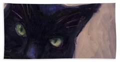 Beach Sheet featuring the painting Cat A Tude by Billie Colson