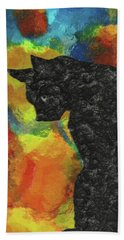 Cat Abstract Beach Towel
