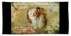 Kitty Cat Composite Art II Beach Sheet