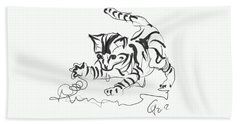 Cat- Cute Kitty  Beach Sheet