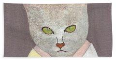 Cat In Kimono Beach Towel