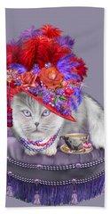 Cat In The Red Hat Beach Towel by Carol Cavalaris