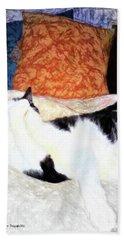 Cat Nap - Zen And The Art Of Washing Beach Sheet