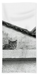Cat On A Roof, Varenna Beach Towel