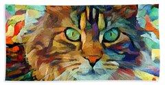 Cat On Colors Beach Sheet