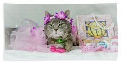 Cat Tea Party Beach Towel