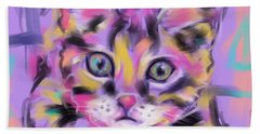Cat Wild Thing Beach Towel