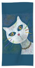 Cat With Kaleidoscope Eyes Beach Towel