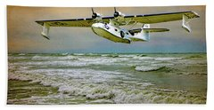 Catalina Flying Boat Beach Towel