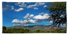 Beach Sheet featuring the photograph Catalina Mountains H48 by Mark Myhaver