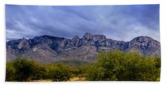 Beach Towel featuring the photograph Catalina Mountains P1 by Mark Myhaver