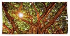 Catch A Sunbeam Under The Banyan Tree Beach Towel