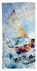 Beach Towel featuring the painting Catch The Wind by Hanne Lore Koehler