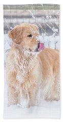 Catching Snowflakes Beach Towel