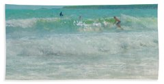 Catching The Wave Beach Towel