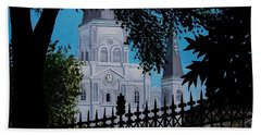 Cathedral At The Square Beach Towel