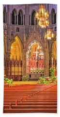 Beach Towel featuring the photograph Cathedral Basilica Of The Sacred Heart Newark Nj by Susan Candelario