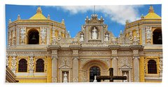 Cathedral In Antigua, Guatemala Beach Towel