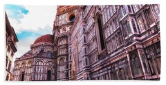 Cathedral In Rome Beach Towel by Linda Constant