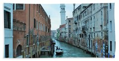 Cathedral Of San Giorgio Dei Greci Beach Towel