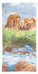 Cathedral Rock 2,  Sedona, Az. Beach Towel