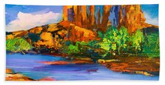 Cathedral Rock Afternoon Beach Sheet by Elise Palmigiani