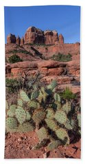 Cathedral Rock Cactus Grove Beach Towel