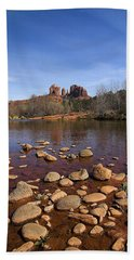 Beach Sheet featuring the photograph Cathedral Rock by Dan Wells