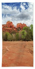 Beach Towel featuring the photograph Cathedral Rock Sedona by James Eddy